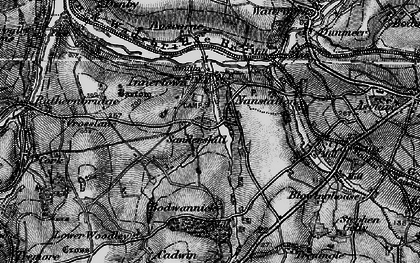 Old map of Threewaters in 1895
