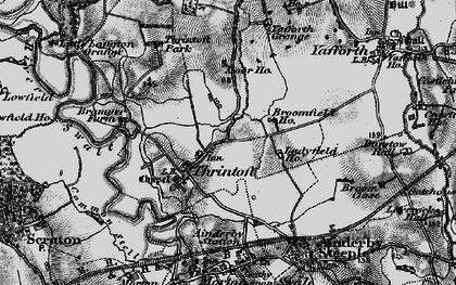Old map of Yafforth Grange in 1898