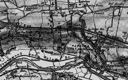 Old map of Throckley in 1897