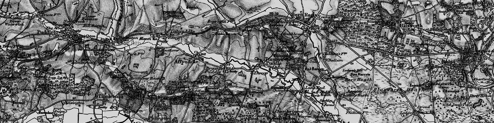 Old map of Throop in 1897