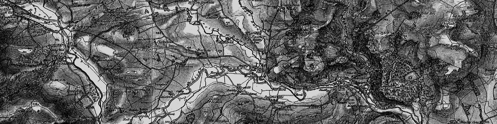 Old map of Thropton in 1897