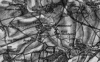 Old map of Thruxton in 1895