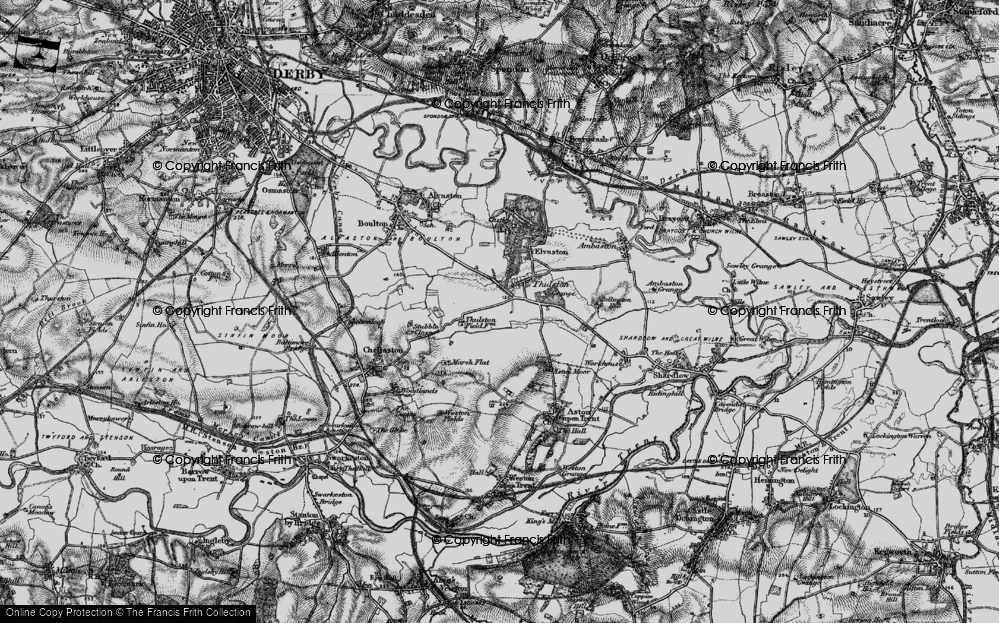 Old Map of Historic Map covering Thurlestone Grange in 1895