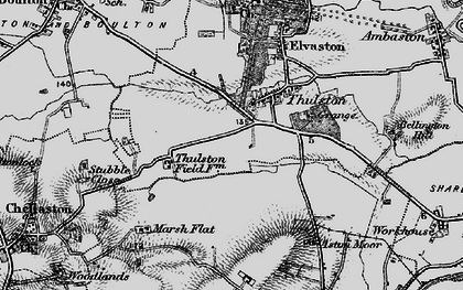 Old map of Thurlestone Grange in 1895