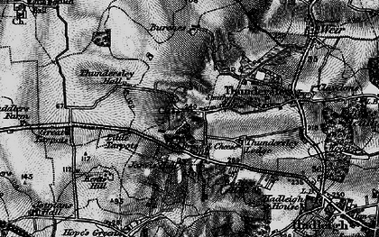 Old map of Thundersley in 1896