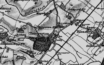 Old map of Thurgarton in 1899