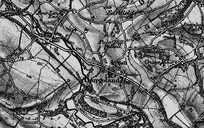 Old map of Thurgoland in 1896