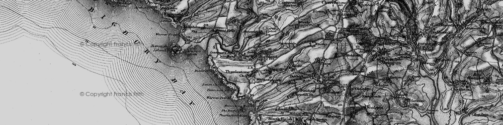 Old map of Thurlestone in 1897