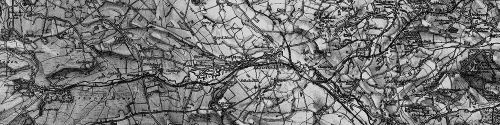 Old map of Thurlstone in 1896