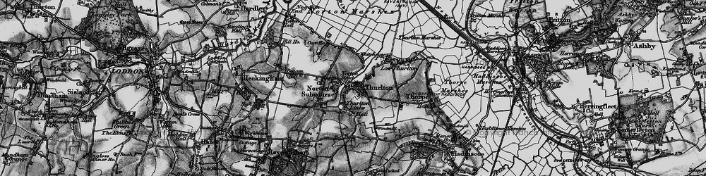 Old map of Thurlton in 1898
