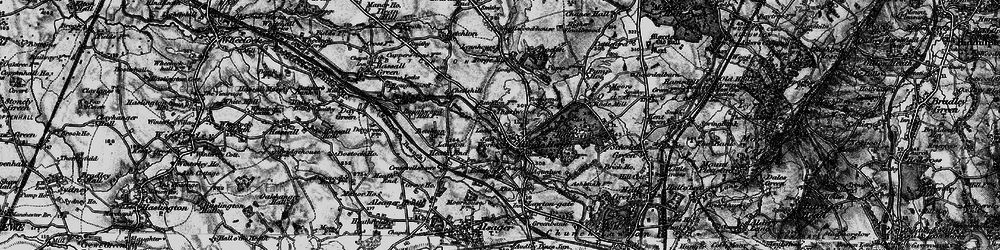 Old map of Thurlwood in 1897
