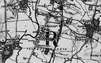 Old map of Thurmaston in 1899