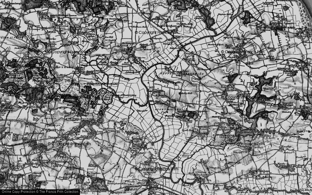 Old Map of Historic Map covering Thurne Mouth in 1898