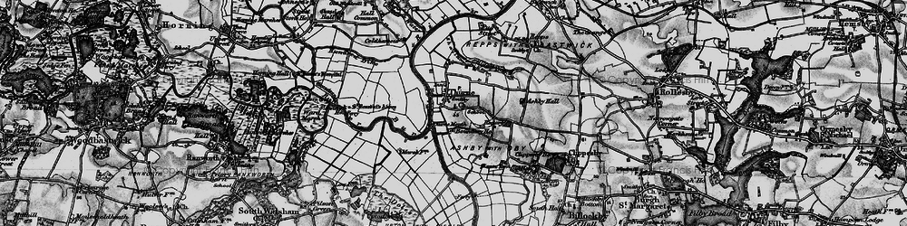 Old map of Thurne Mouth in 1898