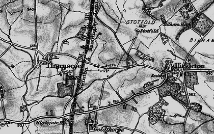 Old map of Thurnscoe East in 1896