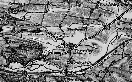 Old map of Thursby in 1897