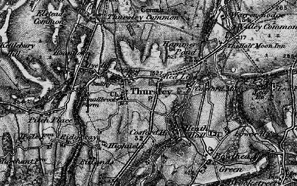 Old map of Thursley in 1895