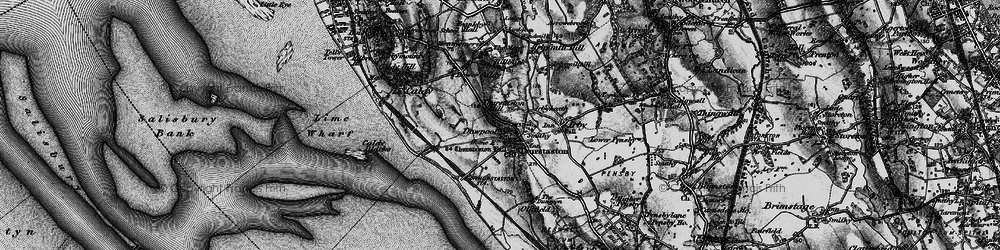 Old map of Thurstaston Hill in 1896