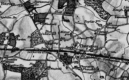 Old map of Thurston in 1898