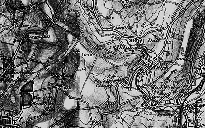 Old map of Thurston Clough in 1896