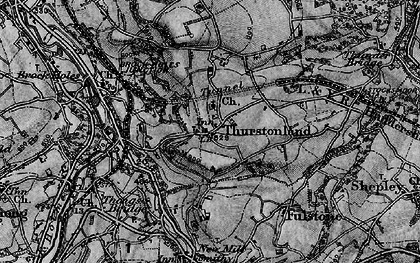 Old map of Thurstonland in 1896