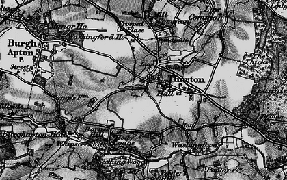Old map of Thurton in 1898