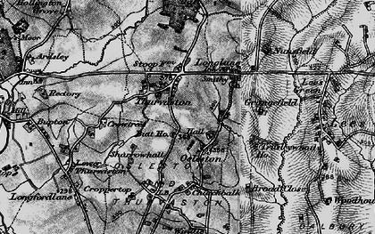 Old map of Thurvaston in 1897