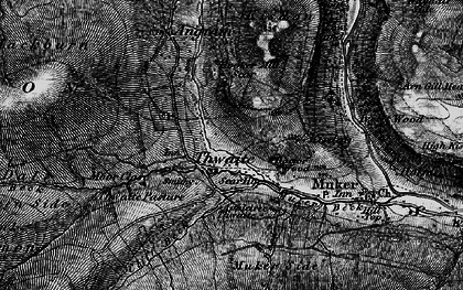 Old map of Thwaite in 1897