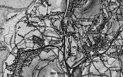 Old map of Thwaite Flat in 1897