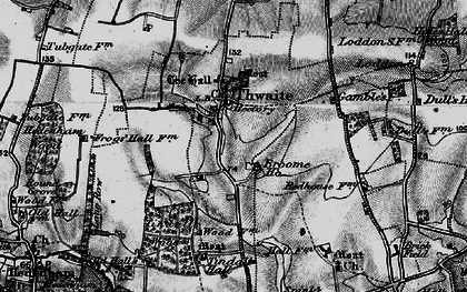 Old map of Tindall Hall in 1898