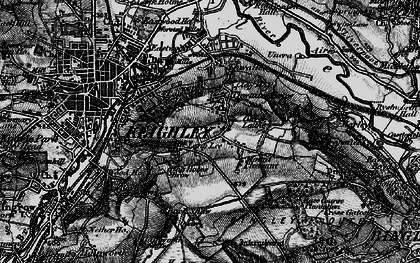 Old map of Thwaites Brow in 1898