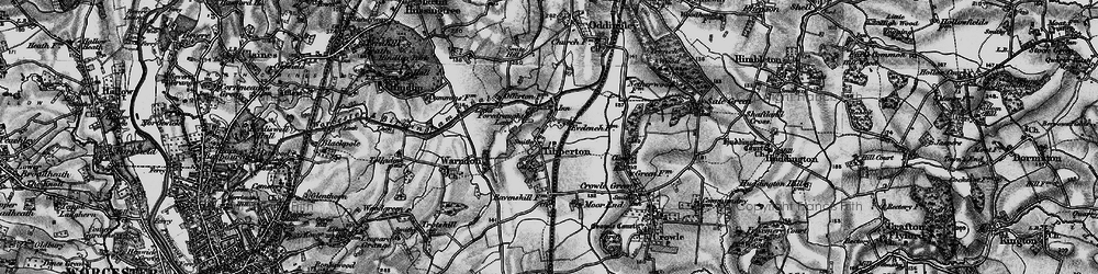 Old map of Tibberton in 1898