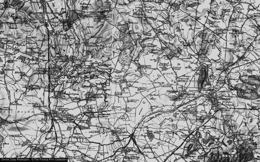 Old Map of Tibberton, 1899 in 1899