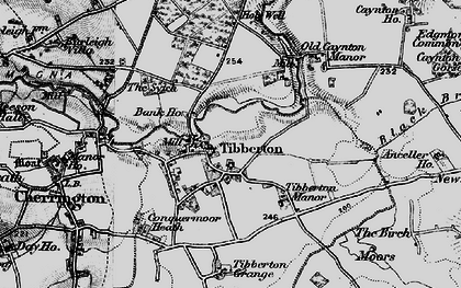 Old map of Tibberton Manor in 1899