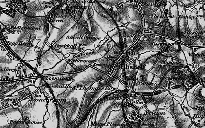 Old map of Westwood Brook in 1896