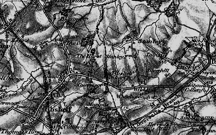 Old map of Tibshelf Wharf in 1896
