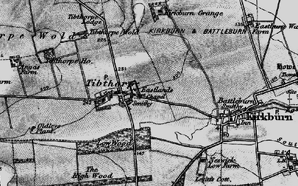 Old map of Tibthorpe Ho in 1898