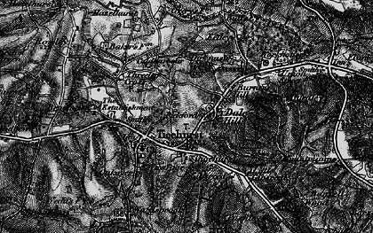 Old map of Ticehurst in 1895