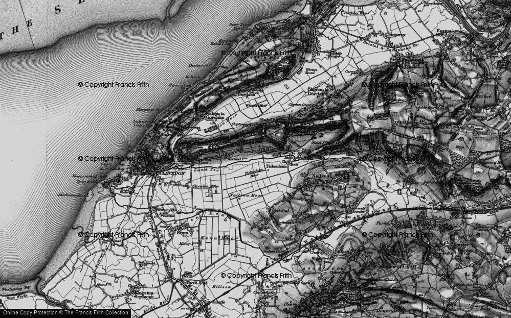 Old Map of Tickenham, 1898 in 1898