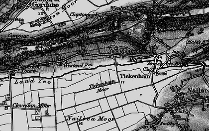 Old map of Tickenham in 1898