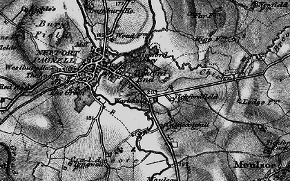 Old map of Tickford End in 1896