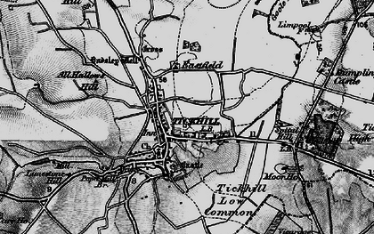 Old map of All Hallows Hill in 1895