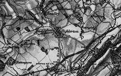 Old map of Ticklerton in 1899