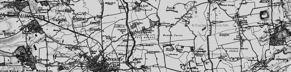 Old map of Tickton in 1898