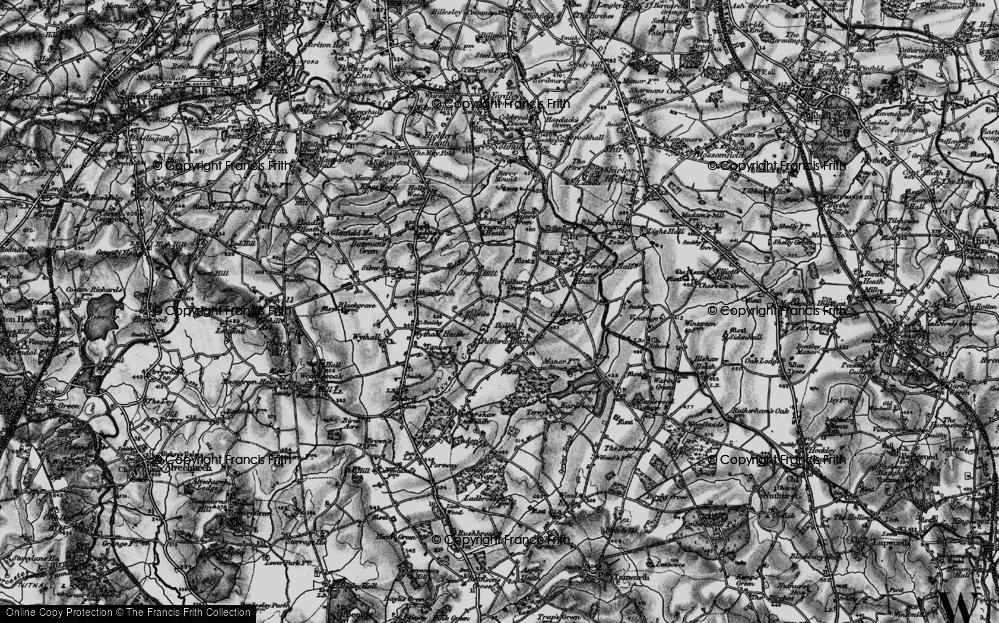 Old Map of Tidbury Green, 1899 in 1899