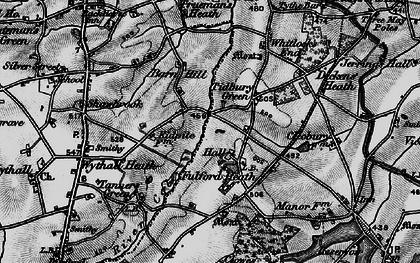 Old map of Tidbury Green in 1899