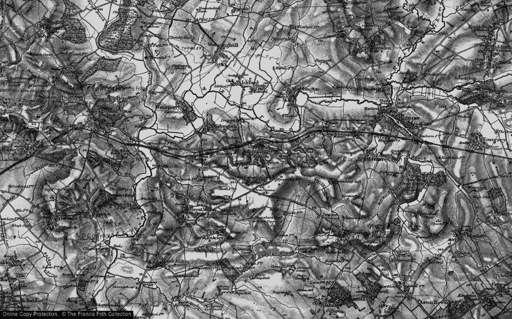 Old Map of Tiddington, 1895 in 1895