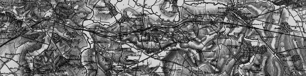 Old map of Tiddington in 1895