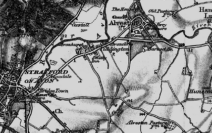Old map of Baraset in 1898