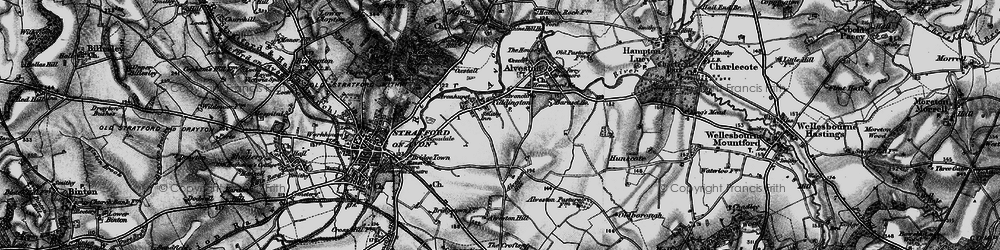 Old map of Tiddington in 1898